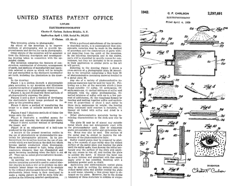 Inventor de la fotocopiadora - Patente